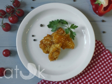 Рыбные наггетсы с кунжутом